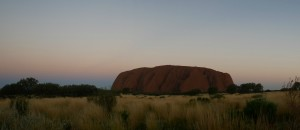 uluru at sunset ayers rock