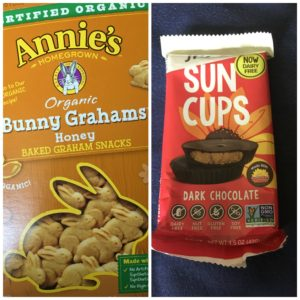 bunny grahams and sun butter cups